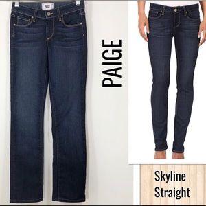PAIGE Skyline Straight Midrise Jeans 24x28